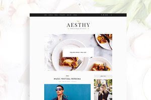 Aesthy, Stylish Blog Wordpress Theme