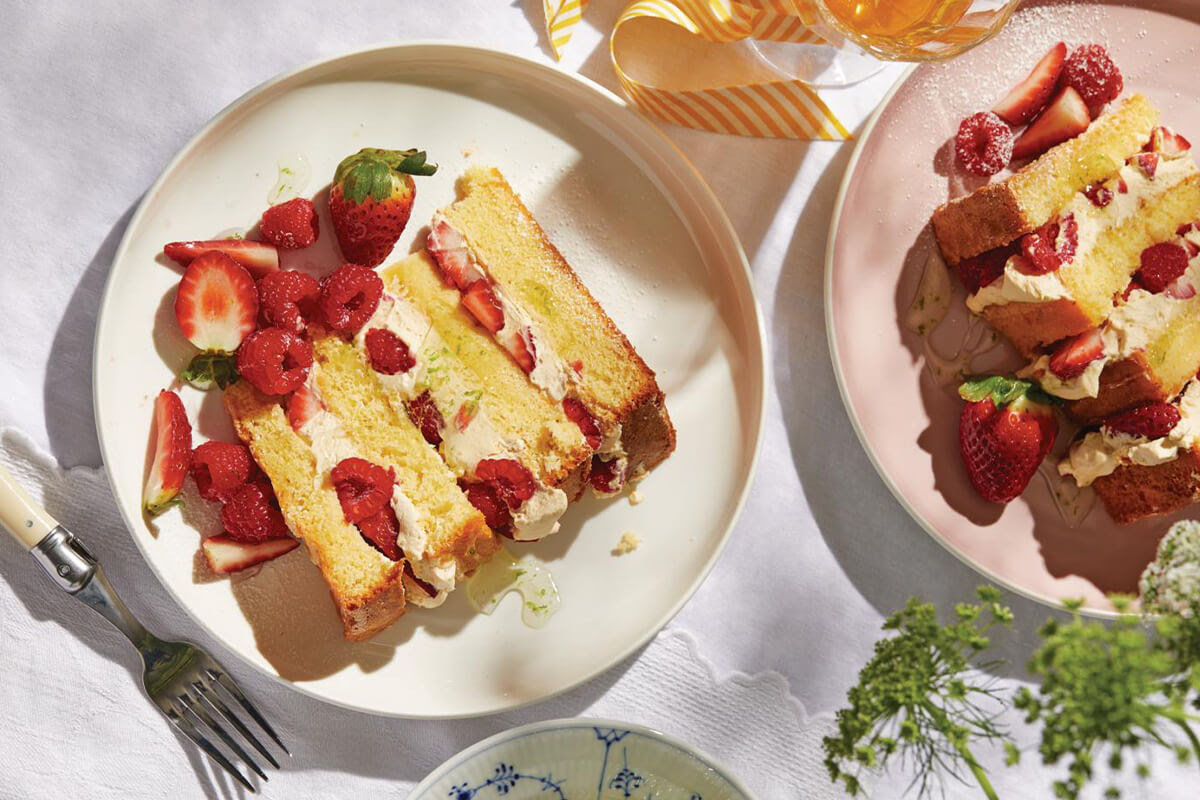 Double Berry Layer Cake