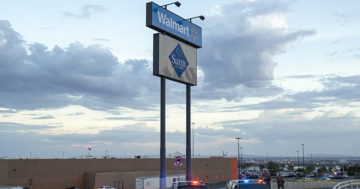 A Walmart store is seen.