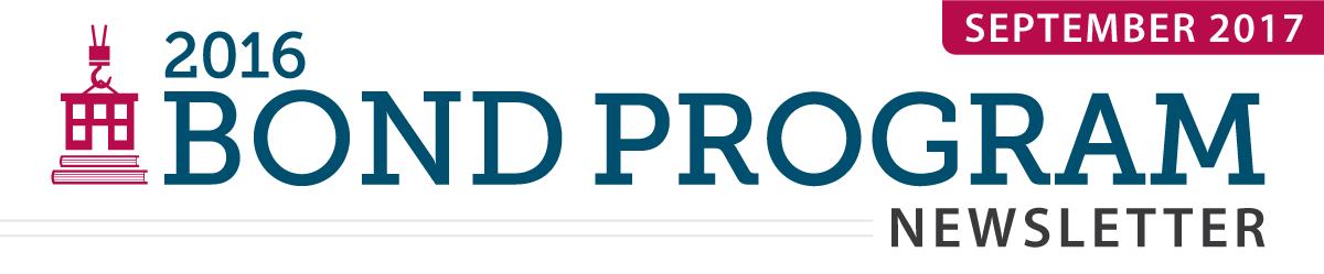 2016 Bond Program Newsletter - September 2017