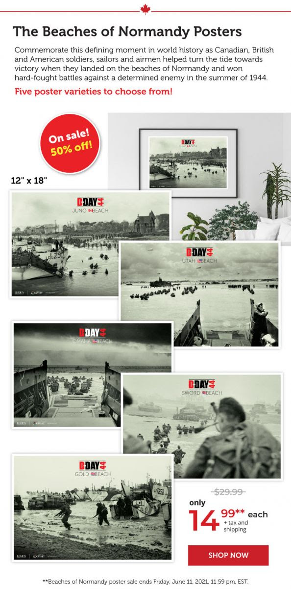 The beaches of Normandy Posters