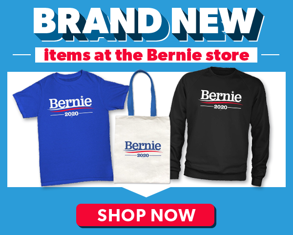 BRAND NEW items at the Bernie store - Shop Now
