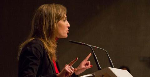 Tania Sánchez, durante su intervención.