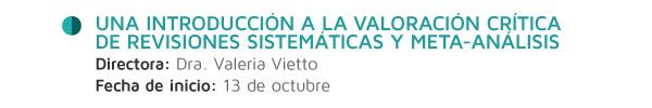 Una introducción a la valoración crítica de revisiones sistemáticas y meta-análisis