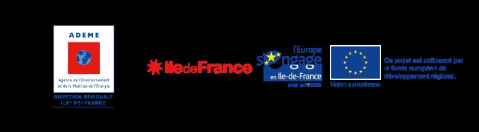 ADEME Ile de France et le Fonds européens de développement régional IDF