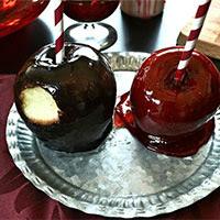 """Manzanas de caramelo """"envenenadas"""""""