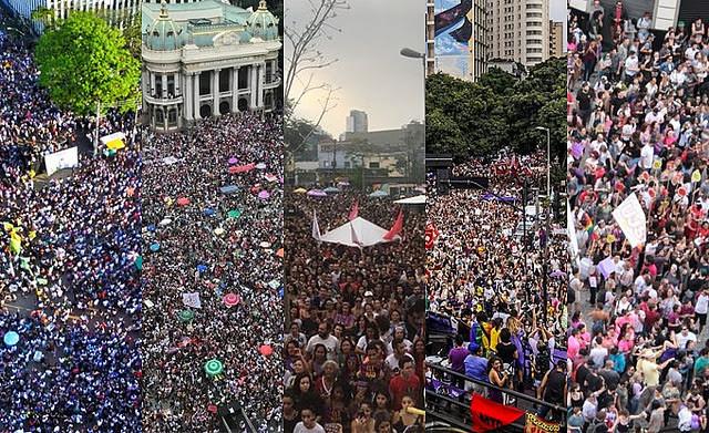 Actos masivos acontecieron en Belo Horizonte, Rio de Janeiro, Porto Alegre, Curitiba, Recife y São Paulo  - Créditos: Reproducción