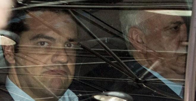 El primer ministro griego Alexis Tsipras, en su llegada a la cumbre de líderes de la eurozona celebrada el domingo en Bruselas. REUTERS