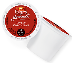 Folgers Lively Colombian Keurig Kcup coffee
