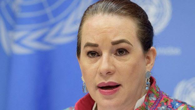 diplomata equatoriana María Fernanda Espinosa