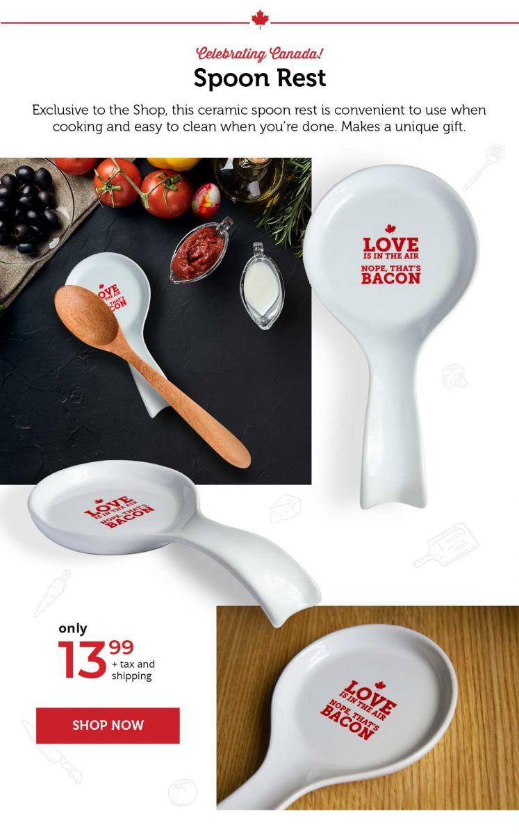 Spoon Rest – Love is in the air—Nope, that's bacon