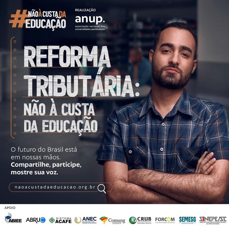 Flyer Campanha sobre a Reforma Tributária