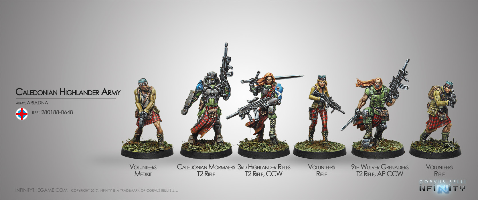 CALEDONIAN HIGHLANDER ARMY, ARIADNA SECTORIAL STARTER PACK