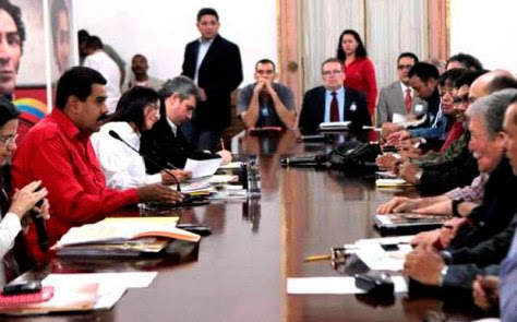Presidente Nicolás Maduro en reunión con los partidos del Gran Polo Patriótico GPP en Miraflores (Foto: Archivo).