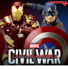 ARTFX+ IRON MAN MARK XLVI AND CAPTAIN AMERICA