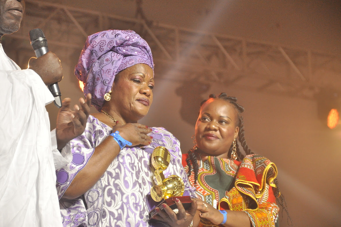 Mama Marie Lozolo  wife of late Papa Wemba  received  on behalf of her husband  late Papa Wemba - Special Recognition