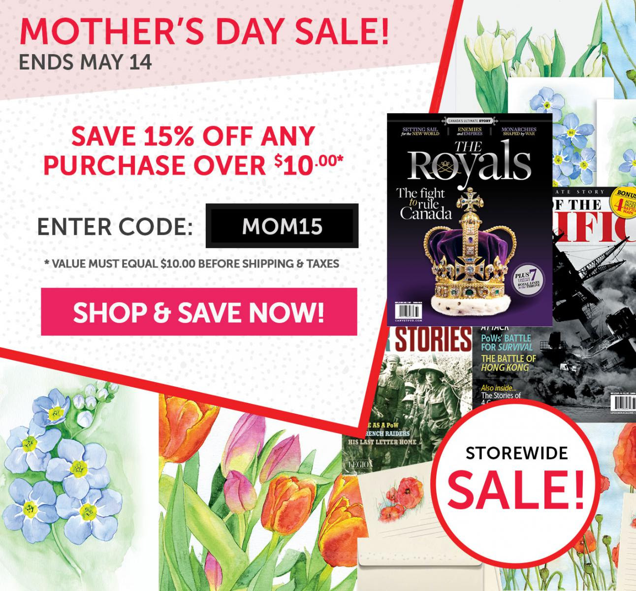 Mother's Day Sale now on! Save 15%