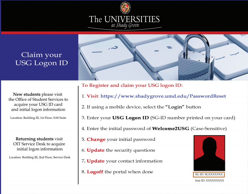 USG Logon ID information
