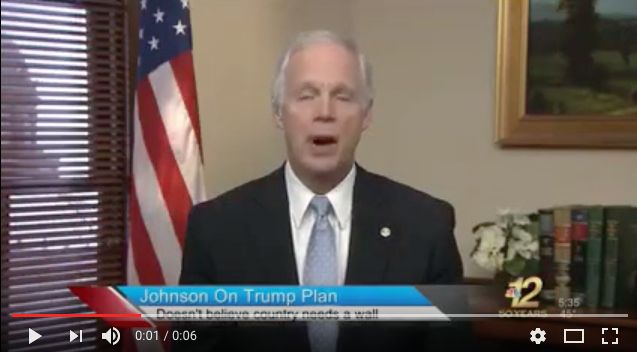 Senator Johnson in Total Agreement With Trump's Immigration Principles