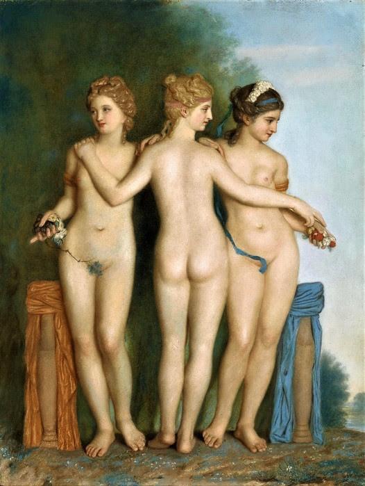 Три грации с античной римской статуи в коллекции Боргезе в Риме (The Three Graces)     1737      59.4 х 45.4_пергамент, пастель    Амстердам, Рейксмузеум (526x700, 105Kb)