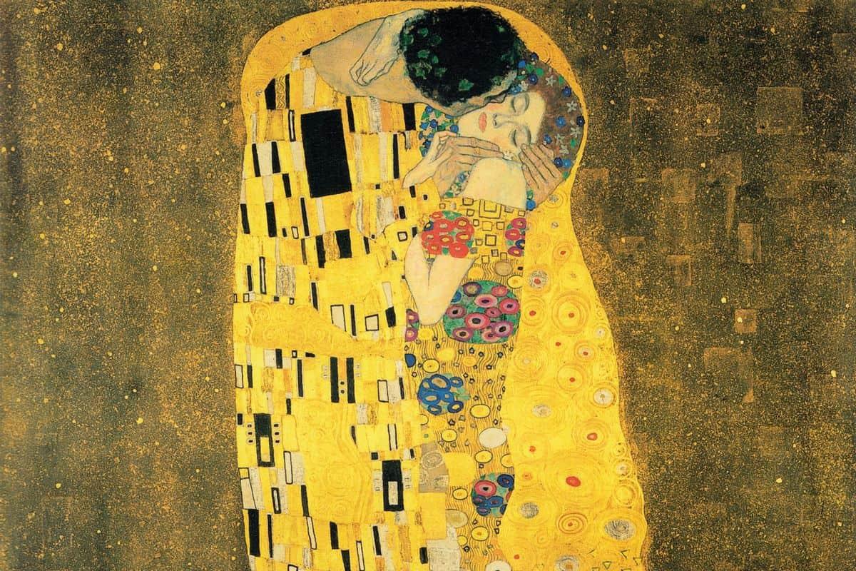 Gustav Klimt - O Beijo (detalhe), 1907-1908