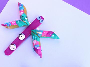 Pretty Pasta Dragonflies