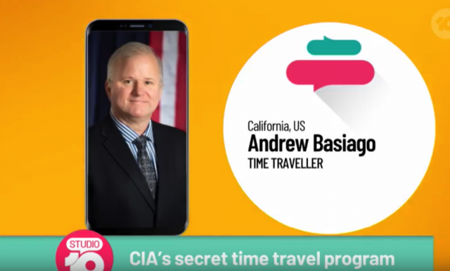 CIA Time Traveler Blows Minds on Aussie TV!  Priceless!