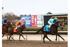 Horses race at Fonner Park in Nebraska, one of a handful of tracks still able to conduct live racing in the U.S.