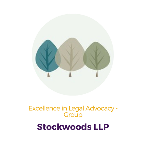 Stockwoods LLP, Excellence in Legal Advocacy Group