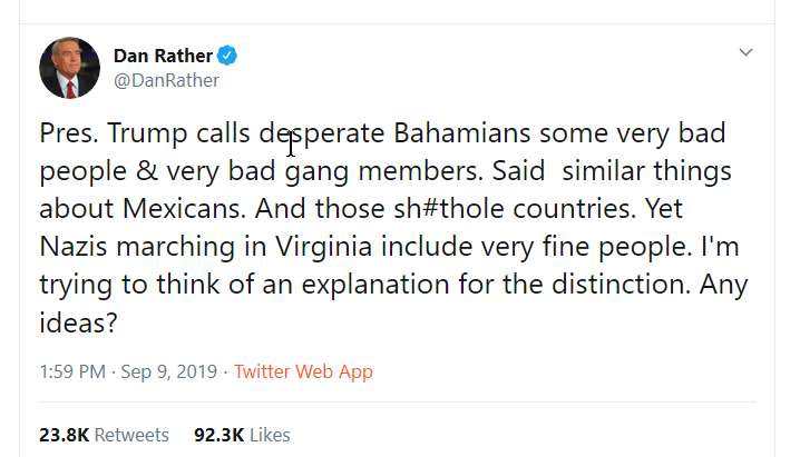 tweet by Dan Rather