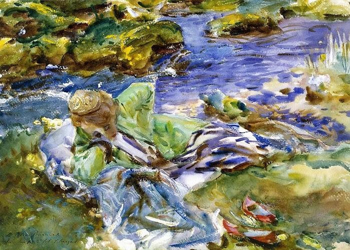 Сарджент  Турчанка  у  ручья   1920 (700x499, 172Kb)