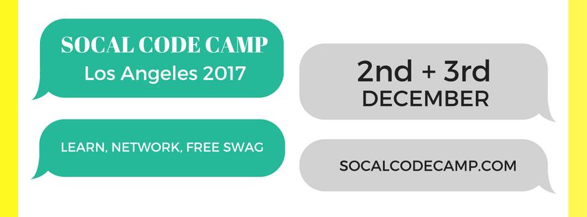 SoCal Code Camp Los Angeles 2017 @ University of Southern California