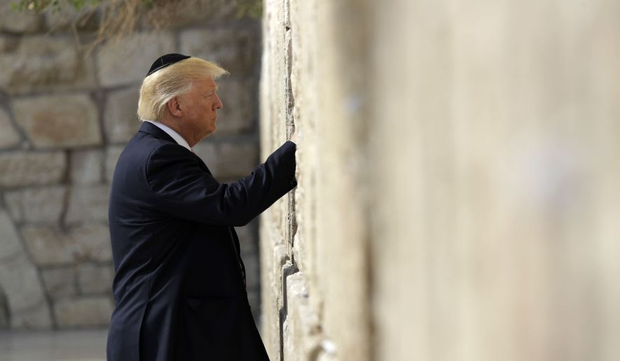 Trump Becomes First President to Pray at Western Wall