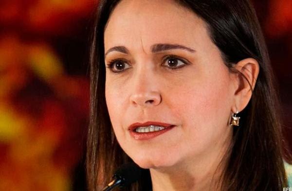 María Corina Machado, activa en el plan golpista