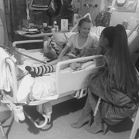 Ariana Grande Visits Royal Manchester Children's Hospital