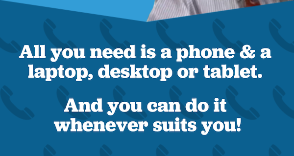 Call from home! All you need is a phone and a desktop, laptop or tablet. act during the lead up to Iowa caucuses