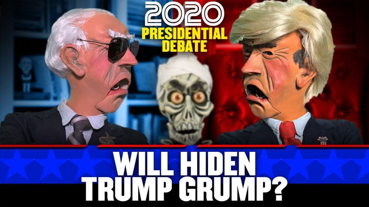 Biden and Trump puppets