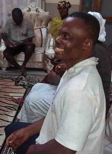The Rev. Jen Tivkaa Moses after his release by kidnappers. (Morning Star News courtesy of Mose family)
