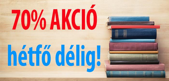 50 könyv - 70 százalékos kedvezmény november 5-én délig!