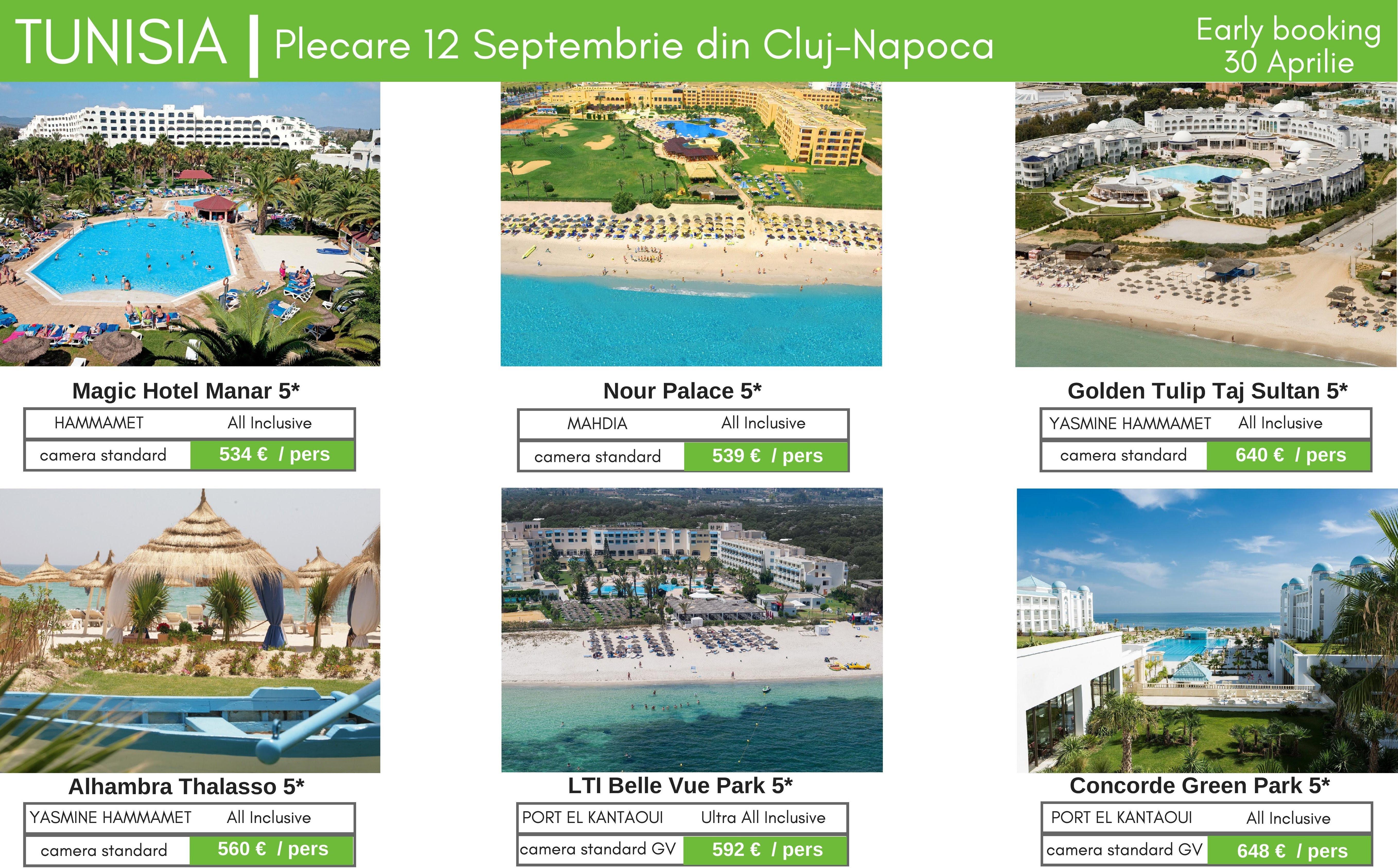 TUNISIA | Super oferte pentru plecarea din 12 Septembrie