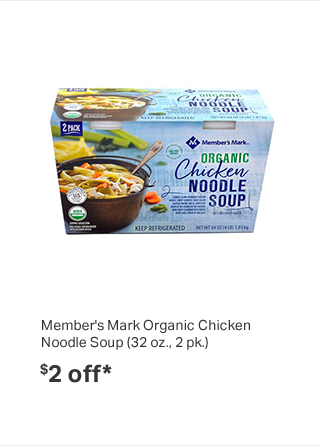 Member's Mark Organic Chicken Noodle Soup (32 oz., 2 pk.)