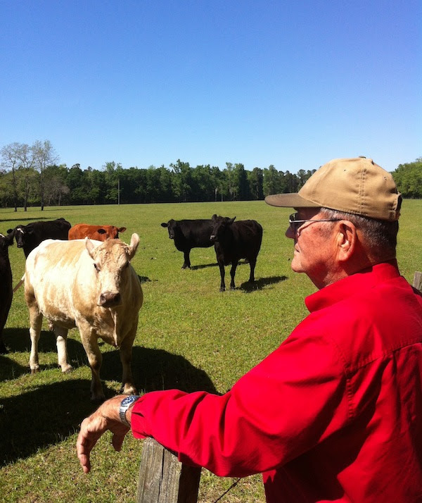 Jim Huggins on his farm