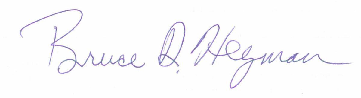 Bruce Heyman Signature