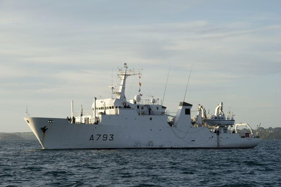 The French Navy's survey vessel Laplace (A 793) picked up pings from EgyptAIr File photo: French Navy