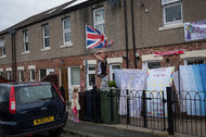 "A neighborhood in Sunderland, England, where ""Brexit"" was heavily favored."
