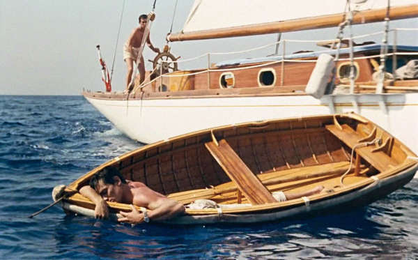 « Plein Soleil», de René Clément en 1960. AvecMaurice Ronet et Alain Delon