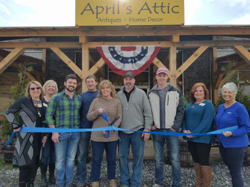 Ribbon Cutting for April_s Attic