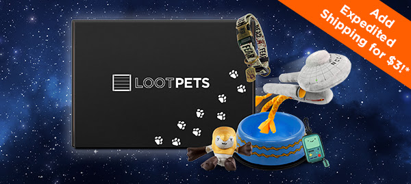 Love your pets? Love Loot Crate? Get the best of both worlds with our Loot Pets subscription crate! This month's theme is GALAXY, and will have both you and your pet over the moon with joy (and amazing loot)! Only three days left to order!