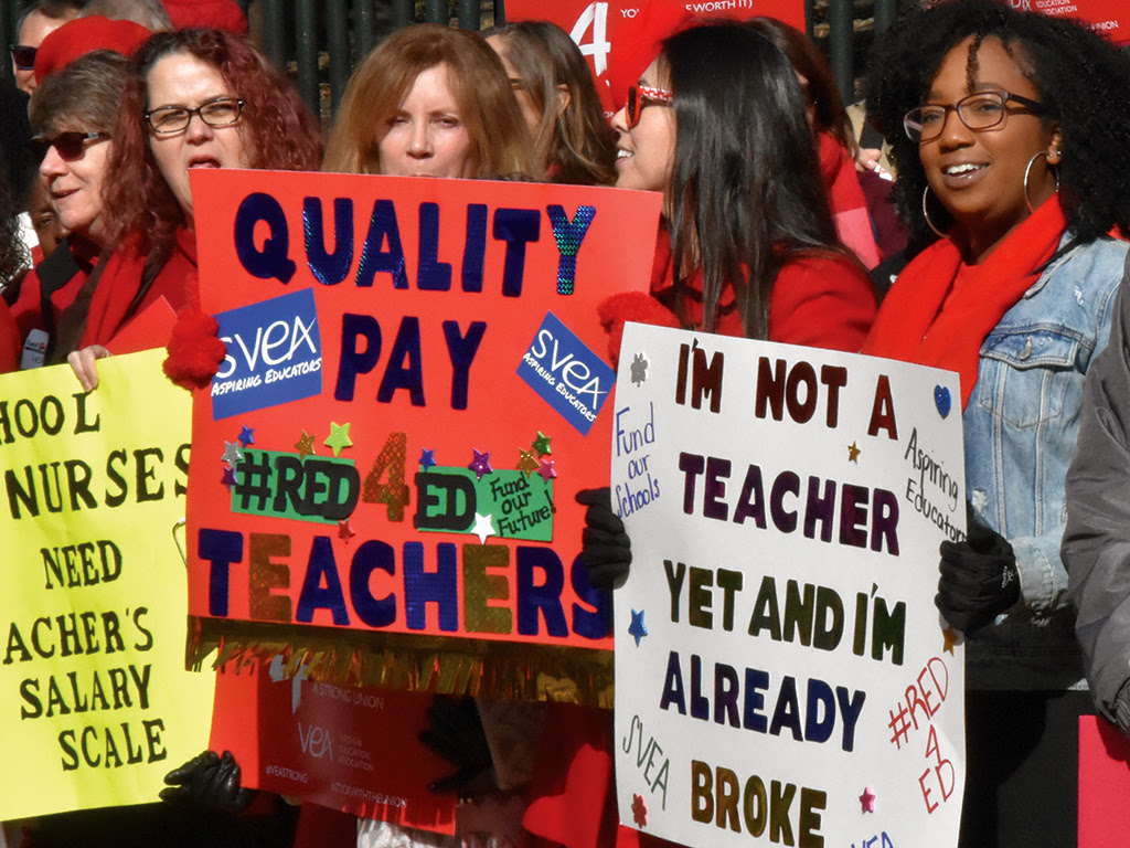 educators protest for better pay