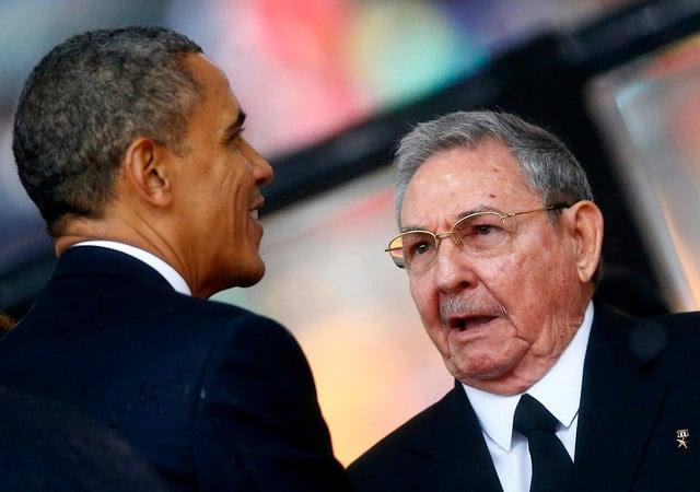 Los presidentes Raúl Castro y Barack Obama